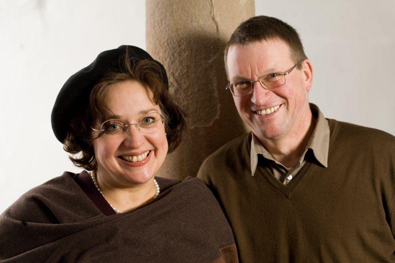 Christine Bernhard und Bernd Pflüger vom biodynamisch wirtschaftenden Weingut Janson Bernhard