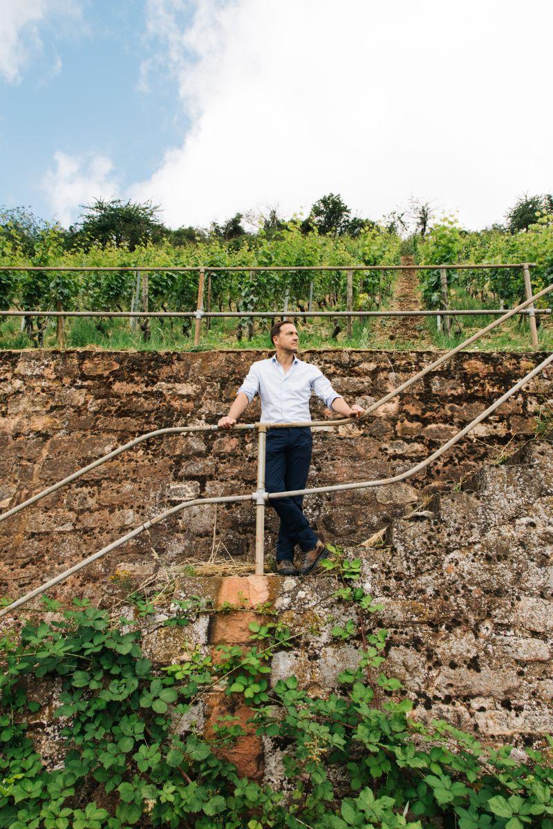 Hans-Oliver Spanier in den Weinterrassen - Weingut Battenfeld Spanier