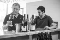 Benjamin and Yves Gras tasting organic and biodynamic Gigondas